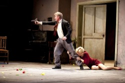 Richard Roxburgh as Vanya and Cate Blanchett as Yelena in Sydney Theatre Company's Uncle Vanya – Photo by Lisa Tomasetti