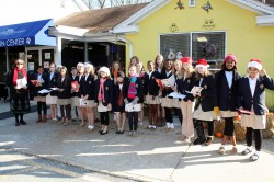 The McDonogh Choir Caroling at The Humane Society.