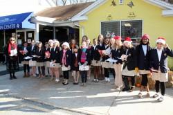 The McDonogh Choir Caroling at The Humane Society.