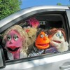 Cast taking a car ride. Photo courtesy of Annapolis Summer Garden Theatre.