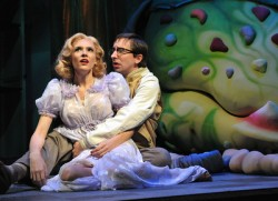 Carolyn Agan as Audrey and James Gardiner as Seymour.  Photo by Stan Barouh.
