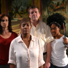 The cast of 'Passport':Nancy (Claire Bowerman), Kioni (Ama Brown), Jeff (Mike Ware), and Louisa (Mahoghany Ayot Eerised).  Photo by Robin Boyle.
