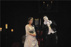 Quinn Vogt-Welch and Patrick A'hearn in 'Phantom.'  Photo courtesy of Riverside Dinner Theatre..