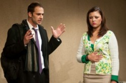 Jonathan Feuer as Stephen Bellamy and Janey Robideau as Molly Pearson.  Photo by Harvey Levine