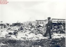 Tulsa Race Riot Ruins.  Photo courtesy of Oklahoma Historical Society.