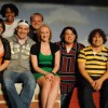 Sarah Hutchison Collier, Brandi Elizabeth Brown, Chad La Fleur, Charles W. Johnson IV, Denise Rogers, Dickie Mahoney, Robert W. Oppel and Tammy Oppel. Photo courtesy of Tidewater Players.