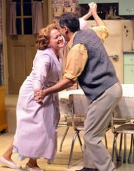 Deborah Hazlett as Ellen Pazinski and Paul Morella as Chet Pazinski.  Photo Stan Barouh.