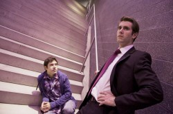 Dustin C. T. Morris (Guy) and Elliott Rauh (Sam).