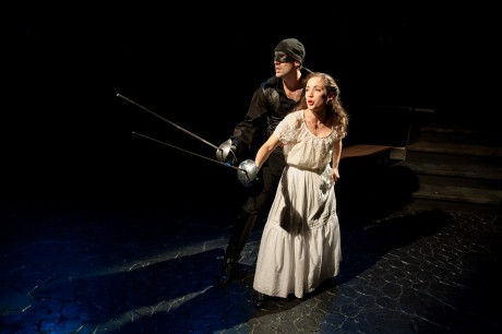 Danny Gavigan as Zorro and Stephanie LaVardera as Lolita. Photo by Andrew Propp.