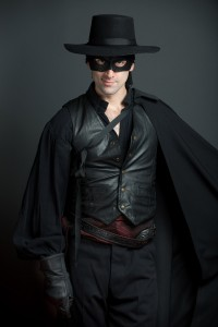 Danny Gavigan as Zorro. Photo by Andrew Propp.