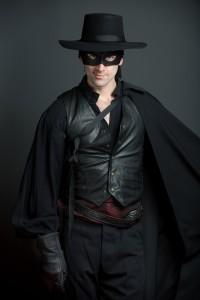 Danny Gavigan as Zorro. Photo by Andrew Propp.
