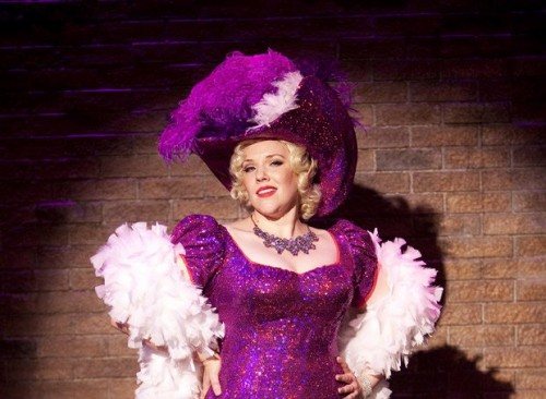 "Emily Skinner as Mae West in Signature Theatre's production of ""Dirty Blonde.""  Photo by Scott Suchamn."