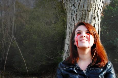Melissa Marie Hmelnicky (Woman). Photo courtesy of Forum Theatre.