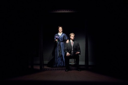 Adelaide Pinchin played by Emily Townley and George Love played by Felipe Cabezas.  Photo by C. Stanley Photography.