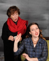Nona Porter (Mrs. Boyle) and Ann Turiano (Molly Ralston).Photo by Tom Lauer.