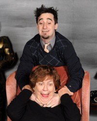 Brian Kehoe (Christopher Wren) and Nona Porter (Mrs. Boyle).Photo by Tom Lauer.