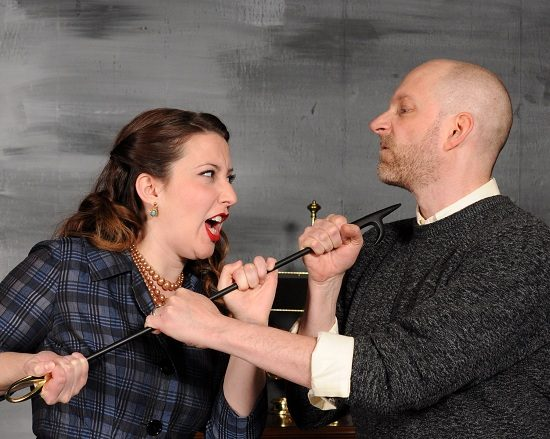 Ann Turiano (Molly Ralston) and Eric C. Stein (Giles Ralston). Photo by Tom Lauer.