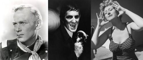 Harry Carry, Jr., John Frid, and Celeste Holms. Photos by the AP, ABC, and Murray Garrett