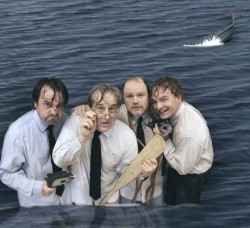 Michael Glenn, Michael Russotto, Todd Scofield and Bolton Marsh. Photo courtesy of Olney Theatre Center.