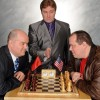 Steve Antonsen (Anatoly), Tom Wyatt (The Arbiter), Ken Ewing (Freddie).  Photo courtesy of DCT.