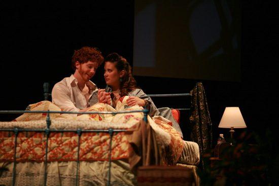 Jon Kevin Lazarus (Peter) and Keri Eastridge (Rita). Photo by Nate Pesce.