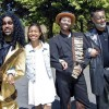 Keith Alexander as Lion, Nia Smith as Dorothy, Sedrick Moody as Scarecrow, and Zadoc Kekuewa as Tin Man.