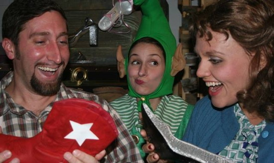 Anthony Scimonelli as Harold, Josephine Patane as Ed and Erin Confair as Maude. Photo provided by Pumpkin Theatre.