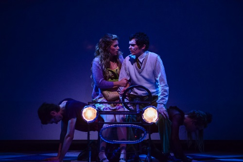 Jesse D. Saywell as Brad and Julie Nolan as Janet.  Photo credit to American University.