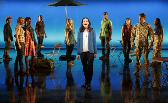 Idina Menzel and Company from 'If/Then.' Photo by Joan Marcus.
