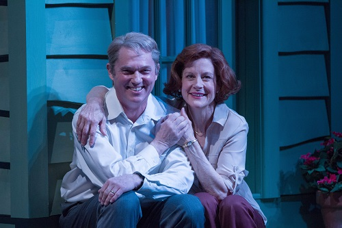 Richard Thomas as Jimmy Carter and Hallie Foote as Rosalynn Carter in 'Camp David' at Arena Stage at the Mead Center for American Theater March 21-May 4, 2014. Photo by Teresa Wood.