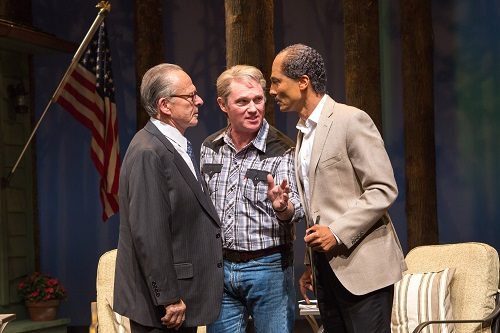 Ron Rifkin as Menachem Begin, Richard Thomas as Jimmy Carter and Khaled Nabawy as Anwar Sadat in 'Camp David' at Arena Stage at the Mead Center for American Theater March 21-May 4, 2014. Photo by Teresa Wood.