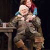 Stacy Keach as Falstaff and Maggie Kettering as Doll Tearsheet in the Shakespeare Theatre Company production of Henry IV, Part 2. Photo by Scott Suchman.
