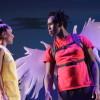 Lynette Rathnam (Cris) and Andreu Honeycutt (Ikarus) in 'The Wings of Ikarus Jackson.' Photo by Carol Pratt.