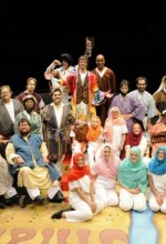 The cast of Phamaly Theatre Company's production of Joseph and the Amazing Technicolor Dreamcoat. Photo courtesy of the production.